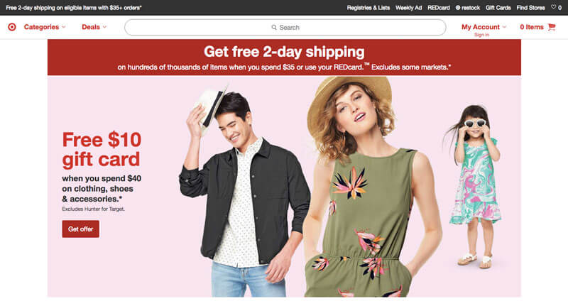 وب سایت Target