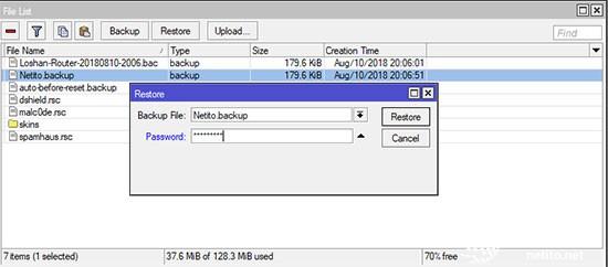 مراحل بازگردانی فایل پشتیبان .backup میکروتیک